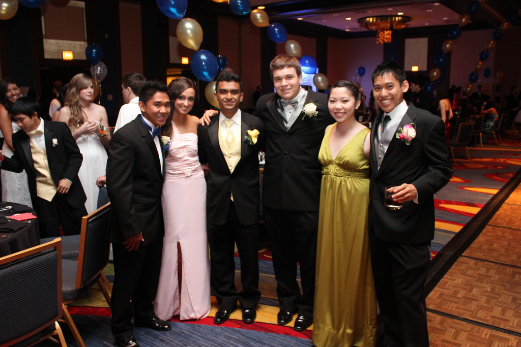 The class of 2010&#039;s prom.