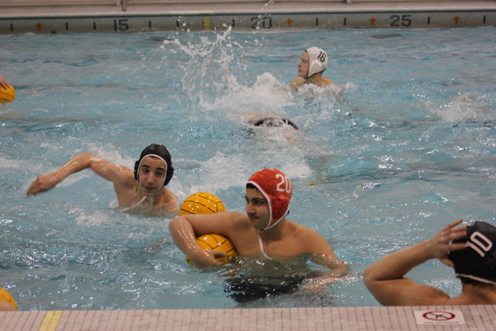 Boy's Water Polo Practice. Photo by Rebecca Yun