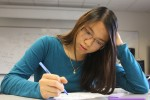 Student taking a Final Exam. Photo by Vicky Robles
