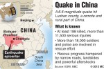 Map locating China&#039;s Sichuan province where a deadly earthquake has killed at least 180 and injured thousands; China has deployed thousands of workers in a massive rescue operation. MCT 2013