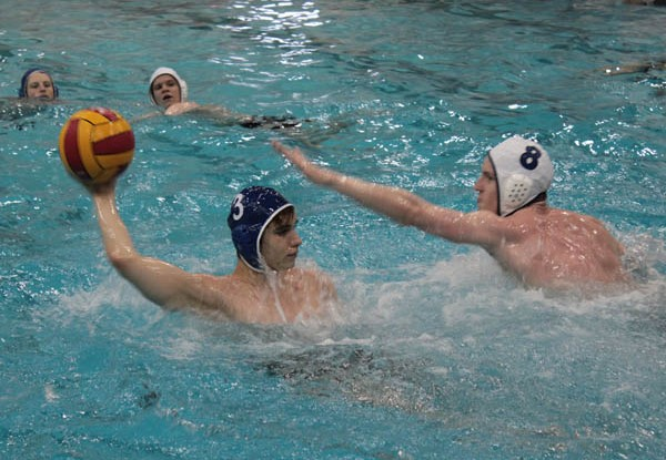 Andrew Mudreac during water polo practice (number 3)