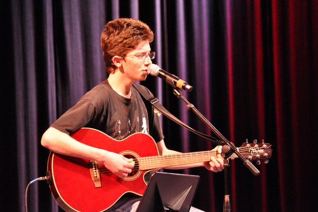 Senior Merrill Miller will perform at Battle of the Bands this Sunday.