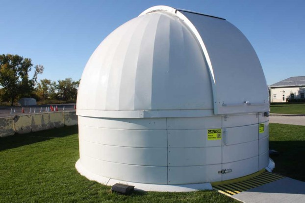 Niles West's new Observatory located in the south parking. Photo by Rand Jasser