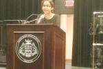 At last year's graduation, Smita Jain was the commencement speaker.