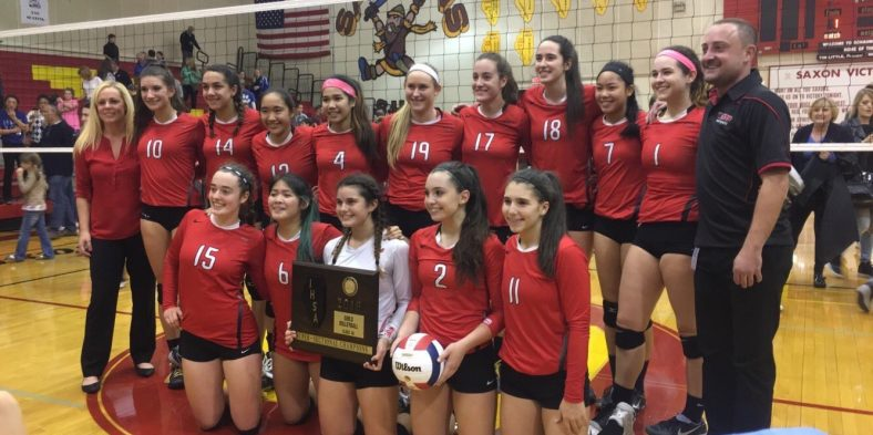 Girls Varsity Volleyball to Compete at State after Winning Super-Sectionals