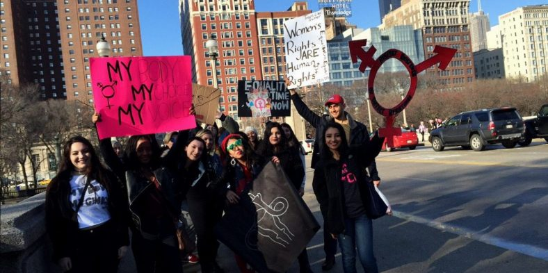 Niles West Students March on Chicago for Human Rights