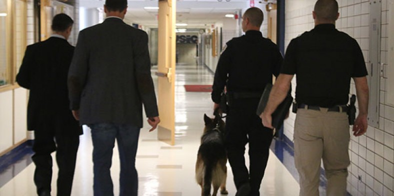 West Conducts Canine Search on 4/20