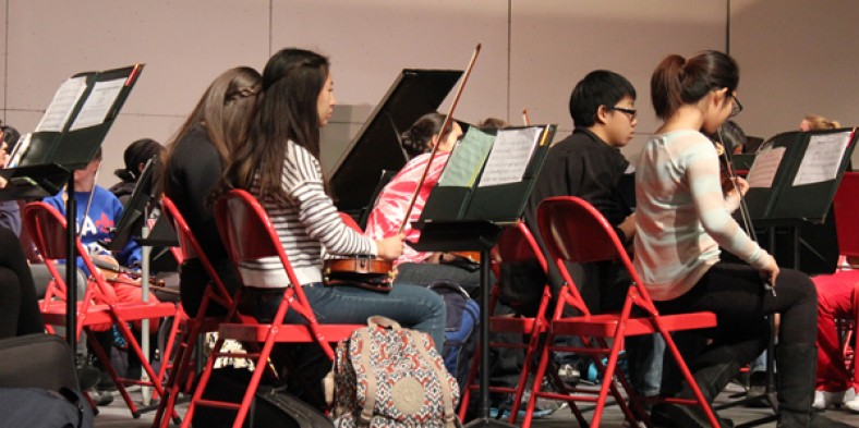 Junior High Students Attend Orchestra Clinic