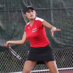 Senior Eliza Kirov has been on varsity tennis since her freshman year.